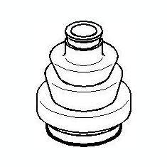 Burduf cauciuc, articulatie planetara OPEL VECTRA C 2.0 DTI 16V - TOPRAN 205 482 - Burduf auto