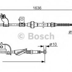 Cablu, frana de parcare MG MG ZS limuzina 180 - BOSCH 1 987 482 120