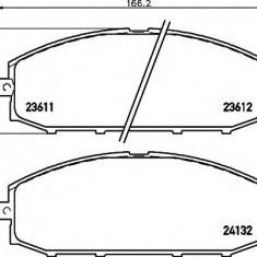 Placute frana NISSAN SAFARI II autoturism de teren, inchis 4.5 i - MINTEX MDB1902 - Ventilatoare auto