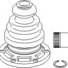 Set articulatie, planetara VW TRANSPORTER / CARAVELLE Mk IV bus 2.4 D Syncro - TOPRAN 104 077
