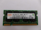 Memorie Laptop Ddr2 hynix 2gb 2rx8 Pc2-6400s-666-12 12luni garantie