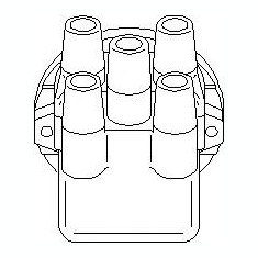Capac distribuitor PEUGEOT 205 Mk II 1.7 Diesel - TOPRAN 722 263 - Delcou