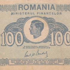 ROMANIA 100 lei 1945 VF+!!! - Bancnota romaneasca