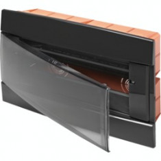 Tablou electric incastrat Gewiss negru 12M - Tablou electric si siguranta