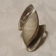 Inel argint cu SIDEF Superb vechi Mare Masiv vintage de Efect Elegant