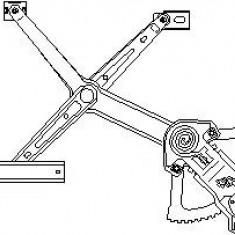 Mecanism actionare geam MERCEDES-BENZ limuzina 200 - TOPRAN 401 427 - Macara geam