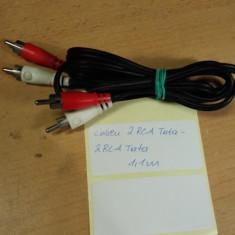 Cablu 2 RCA Tata - 2 RCA Tata 1, 1 m