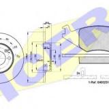 Set frana, frana disc VW POLO 1.0 - ICER 30461-3325