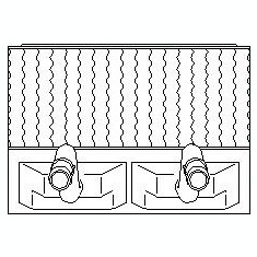Schimbator caldura, incalzire habitaclu OPEL VITA B 1.5 D - TOPRAN 205 792 - Sistem Incalzire Auto