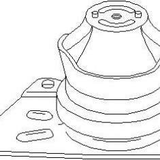 Suport motor SEAT AROSA 1.4 - TOPRAN 103 989 - Suporti moto auto