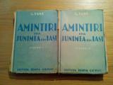 AMINTIRI DELA JUNIMEA DIN IASI (2 vol.) - G. Panu - Editura Remus Cioflec, 1942