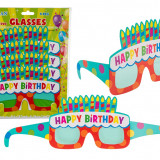 Ochelari party carton - Happy Birthday, 18 x 12 cm, Radar 181049, Set 4 bucati
