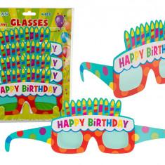 Ochelari party carton - Happy Birthday, 18 x 12 cm, Radar 181049, Set 4 bucati