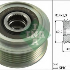Sistem roata libera, generator TOYOTA AYGO 1.0 - INA 535 0277 10 - Fulie