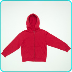 Hanorac / bluza de trening copii, bumbac, H&M _ baieti | 7 - 8 ani | 122-128 cm, Marime: Alta, Culoare: Rosu