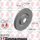 Disc frana PEUGEOT 807 2.0 HDi - ZIMMERMANN 180.3017.52