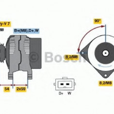 Generator / Alternator VW SHARAN 2.8 V6 24V - BOSCH 0 986 039 080 - Alternator auto