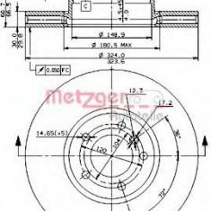 Disc frana BMW 5 limuzina 540 i - METZGER 24992 V - Discuri frana
