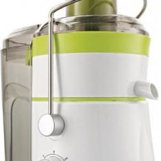 Storcator de fructe si legume Gorenje JC801G, 800 W, Recipient suc 1 l, Recipient pulpa 2 l, 2 Viteze, Tub de alimentare larg, Alb/Verde/Inox
