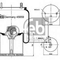 Burduf, suspensie pneumatica - FEBI BILSTEIN 45659