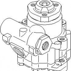 Pompa hidraulica, sistem de directie VW TRANSPORTER / CARAVELLE Mk IV bus 2.4 D Syncro - TOPRAN 113 539 - Pompa servodirectie