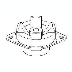 Suport, transmisie manuala AUDI 4000 1.9 D - TOPRAN 103 611 - Tampon cutie viteze