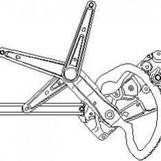 Mecanism actionare geam BMW 3 limuzina 316 i - TOPRAN 501 822 - Macara geam