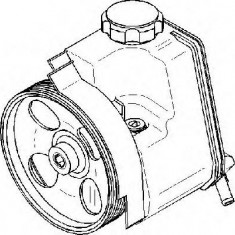Pompa hidraulica, sistem de directie PEUGEOT 206 CC 1.6 16V - TOPRAN 722 817 - Pompa servodirectie