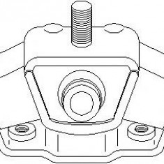Suport, transmisie manuala MERCEDES-BENZ limuzina 200 - TOPRAN 400 484 - Tampon cutie viteze
