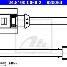Senzor de avertizare, uzura placute de frana PORSCHE 911 3.4 Carrera - ATE 24.8190-0069.2 - Senzor placute