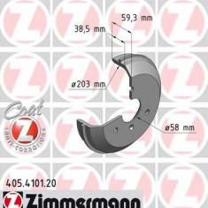 Tambur frana SMART CITY-COUPE 0.6 - ZIMMERMANN 405.4101.20 - Saboti frana auto