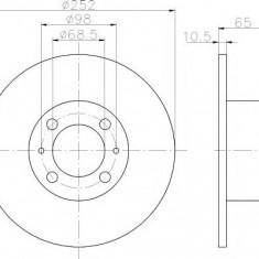 Disc frana LADA 1200-1600 1200 L/S - HELLA PAGID 8DD 355 100-301 - Discuri frana