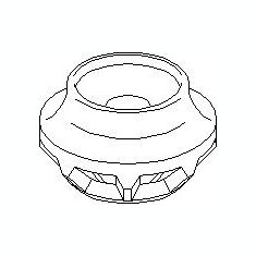 Inel, rulment sarcina amortizor SKODA FELICIA  1.3 - TOPRAN 112 140 - Rulment amortizor