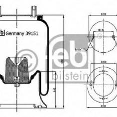 Burduf, suspensie pneumatica - FEBI BILSTEIN 39151