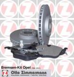 Set frana, frana disc OPEL ASTRA G hatchback 1.6 16V - ZIMMERMANN 640.4201.00