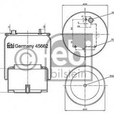 Burduf, suspensie pneumatica - FEBI BILSTEIN 45662