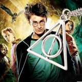 Pandantiv /Medalion HARRY POTTER Deathly Hallows Triangle ,gold silver bronze