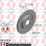 Disc frana PEUGEOT 807 2.0 HDi - ZIMMERMANN 180.3018.20