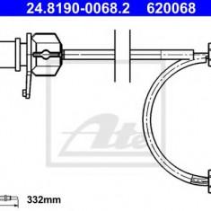 Senzor de avertizare, uzura placute de frana AUDI Q5 2.0 TFSI hybrid quattro - ATE 24.8190-0068.2 - Senzor placute