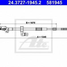 Cablu, frana de parcare TOYOTA RAV 4  2.0 16V - ATE 24.3727-1945.2