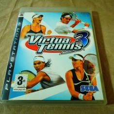 Joc Virtua Tennis 3, PS3, original, alte sute de jocuri! - Jocuri PS3 Sega, Sporturi, 3+, Multiplayer