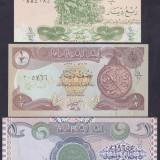 Bancnota Irak 1/4, 1/2 si 1 Dinar 1992/93 - P77-79 UNC ( set 3 bancnote ) - bancnota asia, An: 1993