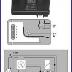 Releu, instalatia de comanda bujii incandescente CITROËN AX 14 D - HÜCO 132080 - Relee