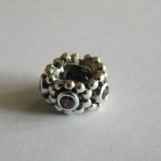 Talisman Pandora din argint -spacer Maiestatea sa cu zirconiu mov -791122acz - Pandantiv argint