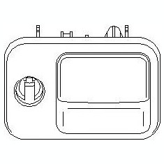 Incuietoare torpedou VW GOLF Mk III 1.9 D - TOPRAN 110 668 - Incuietoare interior - exterior
