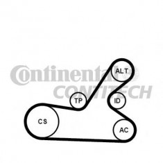 Set curea transmisie cu caneluri PEUGEOT 307 1.6 16V - CONTITECH 6PK1145K3 - Burduf caseta directie