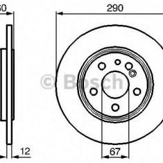 Disc frana MERCEDES-BENZ S-CLASS limuzina S320 - BOSCH 0 986 478 607 - Discuri frana
