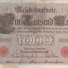 GERMANIA 1.000 marci 1910 VF+++!!! - bancnota europa