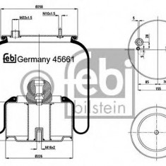 Burduf, suspensie pneumatica - FEBI BILSTEIN 45661