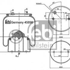 Burduf, suspensie pneumatica - FEBI BILSTEIN 45896